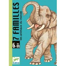 7 familles Les animaux du monde - Jeu de cartes - Djeco