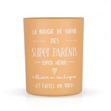 """Bougie parfumée """"La bougie des super parents"""" Créa Bisontine"""