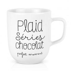 Mug Céramique XL - Plaid séries chocolat perfect moment - Créa Bisontine
