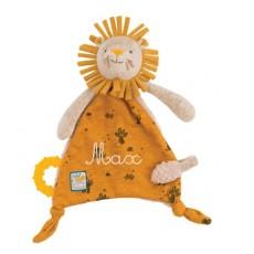 Doudou attache-tétine lion Sous mon baobab - Moulin Roty