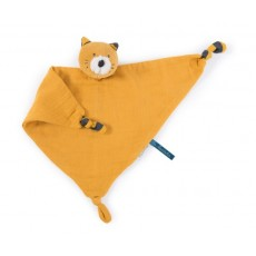 Doudou lange chat moutarde Lulu Les Moustaches - Moulin Roty