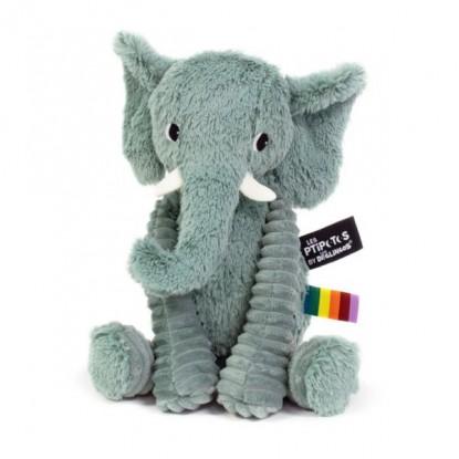 Peluche L'éléphant vert - Les Ptipotos by Les Déglingos