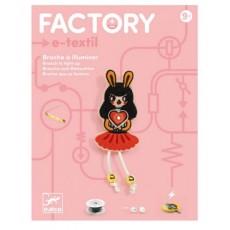Bijoux à illuminer - E-textil - Broche Bunny girl - Djeco
