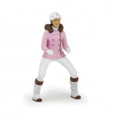 Figurine Cavalière fashion hiver - Papo