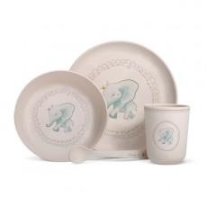 Coffret vaisselle fibre de bambou -  Eléphant - Gaëlle Duval