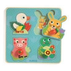 Croc-carrot - Puzzle bois - Djeco