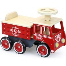 Porteur camion de pompiers - Vilac