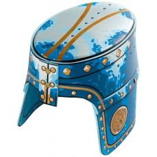Heaume de Chevalier Lion Doré Bleu - Liontouch
