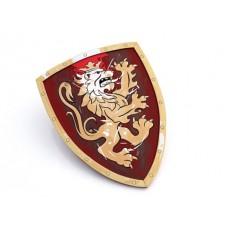 Bouclier du Chevalier Lion Doré Rouge - Liontouch