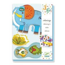 Coloriages pour les petits - Zoo Zoo - Djeco Design by