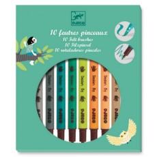 10 feutres pinceaux - Couleurs tertiaires - Djeco Design by