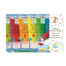 6 tubes de peinture à doigts - Djeco Design by