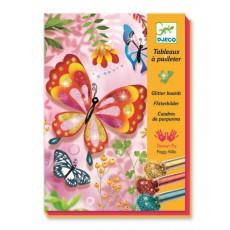 Tableaux paillettes - Papillons à paillettes - Djeco Design by
