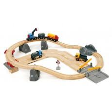 Circuit rail route transport de roches - Brio