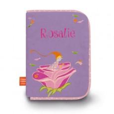 Lutine à la rose - Protège carnet de santé Brodé - L'Oiseau Bateau