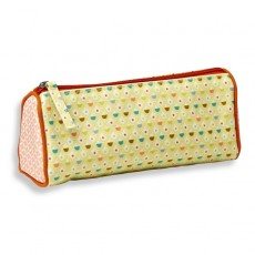 Trousse triangle - canvas imprimé - Confettis vert  - mini labo - Atomic Soda