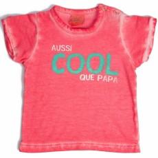 "Tee-shirt Garçon ""Aussi cool que papa"" corail - Bulle de BB"