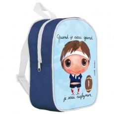 Petit sac à dos Rugbyman - Quand je serai grand(e) par Isabelle Kessedjan