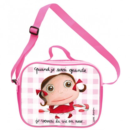 Sac Lunch Bag Isotherme Vie en rose - Quand je serai grand(e) par Isabelle Kessedjan