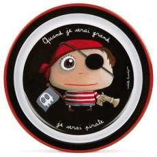 Assiette plate mélamine Pirate - Quand je serai grand(e) par Isabelle Kessedjan