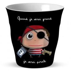 Verre mélamine Pirate - Quand je serai grand(e) par Isabelle Kessedjan