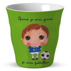 Verre mélamine Footballeur - Quand je serai grand(e) par Isabelle Kessedjan