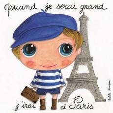 Tableau Paris garçon - Quand je serai grand(e) - Isabelle Kessedjian