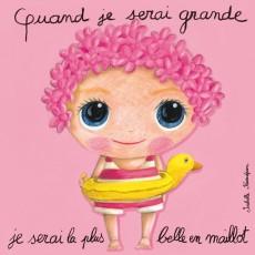 Tableau La plus belle en maillot - Quand je serai grand(e) - Isabelle Kessedjian