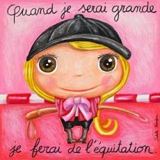 Tableau Equitation - Quand je serai grand(e) - Isabelle Kessedjian