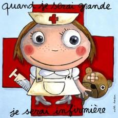 Tableau Infirmière - Quand je serai grand(e) - Isabelle Kessedjian