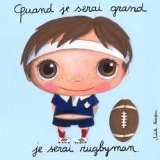 Tableau Rugbyman - Quand je serai grand(e) - Isabelle Kessedjian