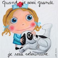 Tableau Vétérinaire / Fille - Quand je serai grand(e) - Isabelle Kessedjian