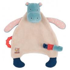 Doudou attache tétine hippopotame - Les Papoum -  Moulin Roty