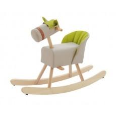 Cheval à bascule mousse skaï - Les Jouets d'Hier-  Moulin Roty
