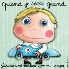 Tableau Voiture - Quand je serai grand(e) - Isabelle Kessedjian