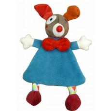 Doudou plat Gustave le clown - Ebulobo