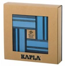 Coffret couleurs bleu- 40 planchettes + livre d'art  - Kapla