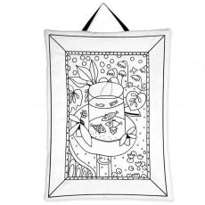 Tableau à colorier Les poissons - Marielle Bazard