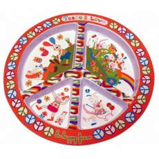 Assiette Plate Peace & Love - Ebulobo