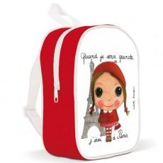 Petit sac à dos Paris Fille - Quand je serai grand(e) par Isabelle Kessedjan