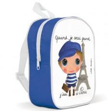 Petit sac à dos Paris Garçon - Quand je serai grand(e) par Isabelle Kessedjan