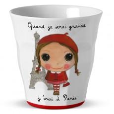 Verre mélamine Paris Fille - Quand je serai grand(e) par Isabelle Kessedjan