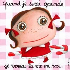 Tableau Vie en rose - Quand je serai grand(e) - Isabelle Kessedjian