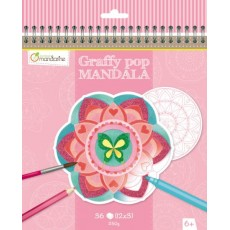 Bloc de coloriage Graffy Pop Mandala Fille - Avenue Mandarine