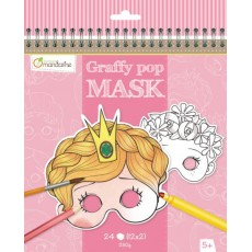Masque à colorier Graffy Pop Mask Fille - Avenue Mandarine