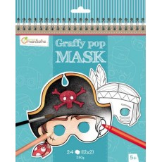 Masque à colorier Graffy Pop Mask Garçon - Avenue Mandarine