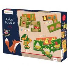 Coffret jeux éducatifs Forêt - Avenue Mandarine