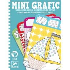 Mini Grafic -Coloriage doodle - Djeco