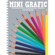 Mini Grafic - 12 mini crayons de couleurs - Djeco