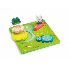 Encastrement bois - 1,2,3 Froggy - Djeco
